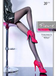 VERONICA 20 den lurex har., nero 2
